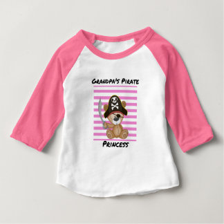Camiseta Para Bebê Luva da princesa Bebê 3/4 do pirata do vovô