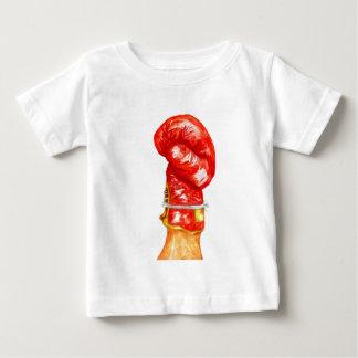 Camiseta Para Bebê Luva de encaixotamento vermelha