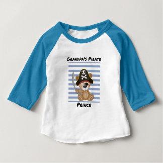 Camiseta Para Bebê Luva do príncipe Bebê 3/4 do pirata do vovô