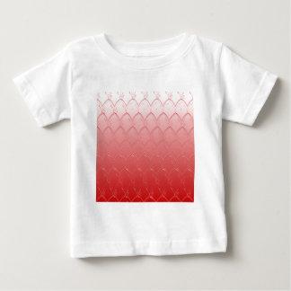 Camiseta Para Bebê Luz à obscuridade - escalas do vermelho
