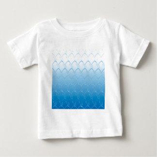 Camiseta Para Bebê Luz às escalas azuis escuro