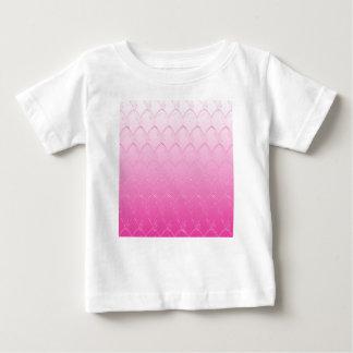 Camiseta Para Bebê Luz às escalas cor-de-rosa escuras