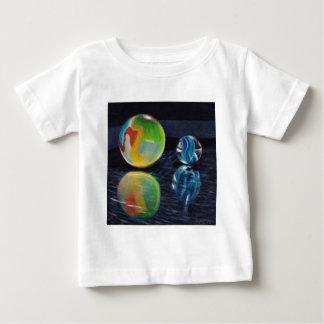 Camiseta Para Bebê Luz de mármore