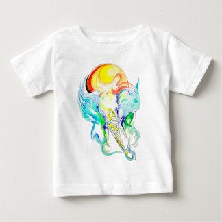 Camiseta Para Bebê luz do sol do elefante
