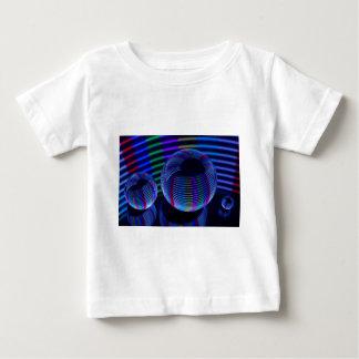 Camiseta Para Bebê Luzes espirais no cristal