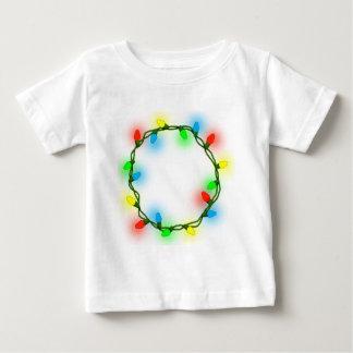 Camiseta Para Bebê Luzes redondas do Natal