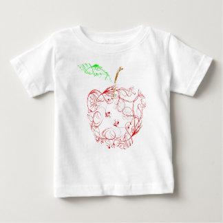 Camiseta Para Bebê maçã