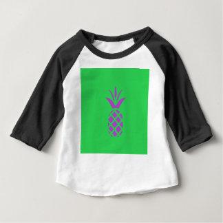 Camiseta Para Bebê Maçã roxa do pinho no verde
