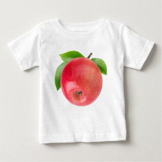 Camiseta Para Bebê Maçã vermelha