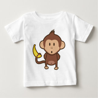 Camiseta Para Bebê Macaco com banana