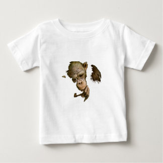 Camiseta Para Bebê Macaco da terra