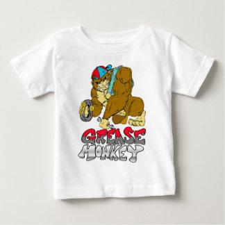 Camiseta Para Bebê Macaco de graxa