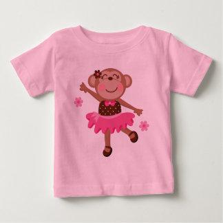 Camiseta Para Bebê Macaco do balé bonito