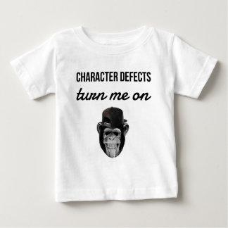 Camiseta Para Bebê macaco do defeito