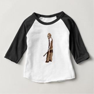 Camiseta Para Bebê macaco humano com vara