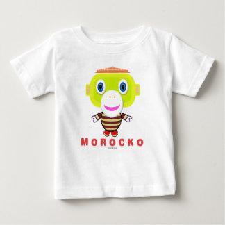 Camiseta Para Bebê Macaco Morocko-Bonito