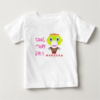 Camiseta Para Bebê Macaco-Morocko Bruh-Bonito da história legal