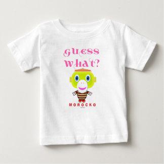 Camiseta Para Bebê Macaco-Morocko Que-Bonito da suposição