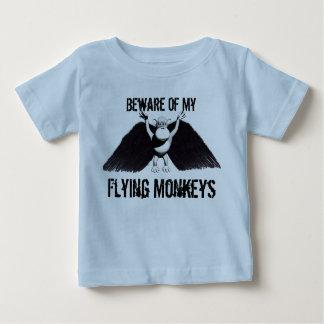 Camiseta Para Bebê Macacos bonitos do vôo do estilo dos desenhos