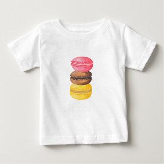 Camiseta Para Bebê Macaroons da aguarela dos doces da ilustração de
