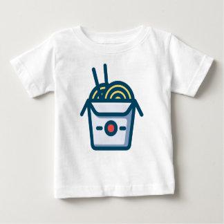 Camiseta Para Bebê Macarronetes de Kung Pao do chinês