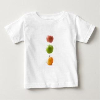 Camiseta Para Bebê Maçãs coloridas