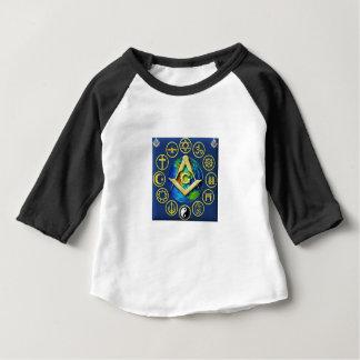 Camiseta Para Bebê Maçonaria todas as religiões
