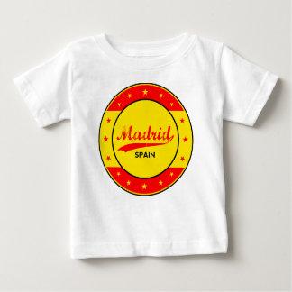Camiseta Para Bebê Madrid, Spain, circle, red