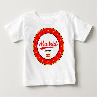 Camiseta Para Bebê Madrid, Spain, circle, white