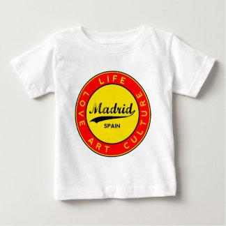Camiseta Para Bebê Madrid, Spain, red circle, art