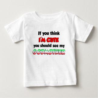 Camiseta Para Bebê Madrinha italiana bonito
