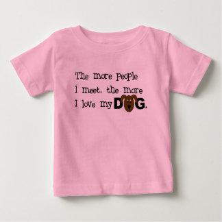 Camiseta Para Bebê Mais pessoas eu encontro mais que eu gosto de meu