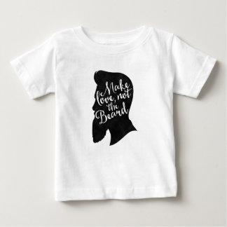 Camiseta Para Bebê Make love not the beard - silhueta
