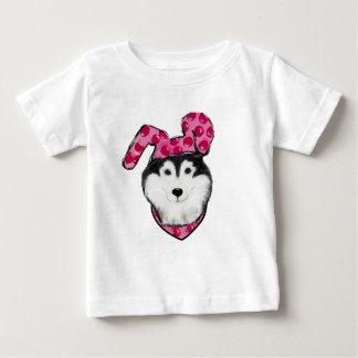 Camiseta Para Bebê Malamute do Alasca da páscoa