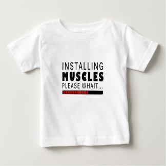 Camiseta Para Bebê Malhação e músculos do Gym