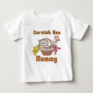 Camiseta Para Bebê Mamã Cornish do gato de Rex