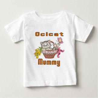 Camiseta Para Bebê Mamã do gato de Ocicat