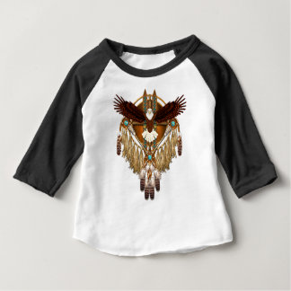 Camiseta Para Bebê Mandala da águia americana - revisada