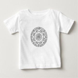Camiseta Para Bebê Mandala da flor