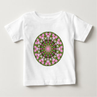 Camiseta Para Bebê Mandala da flor, corações de sangramento 02.0_rd
