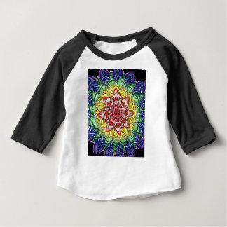 Camiseta Para Bebê Mandala do arco-íris