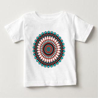 Camiseta Para Bebê Mandala do nativo americano