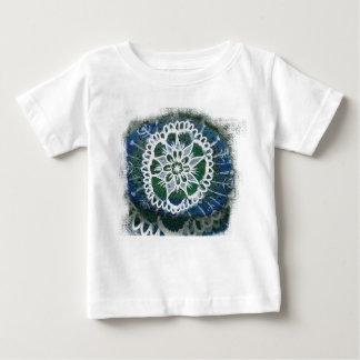 Camiseta Para Bebê Mandala fina do branco do t-shirt do jérsei do