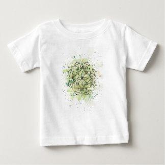 Camiseta Para Bebê Mandala verde do Splatter