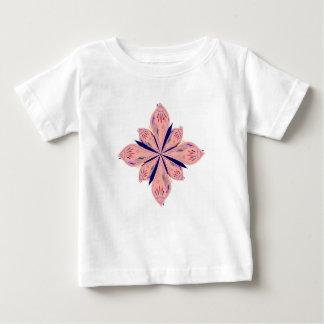 Camiseta Para Bebê Mandalas do ouro de Rosé