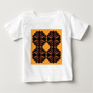 Camiseta Para Bebê Mandalas Ethno pintado mão