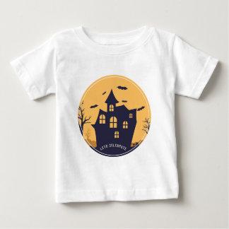 Camiseta Para Bebê Mansão assustador e bastões do Dia das Bruxas