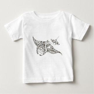 Camiseta Para Bebê manta-raios gêmeos dos raios