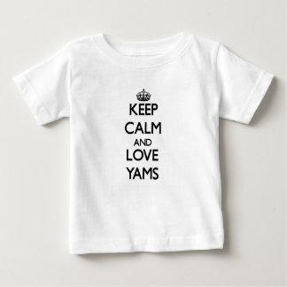Camiseta Para Bebê Mantenha a calma e ame Yams