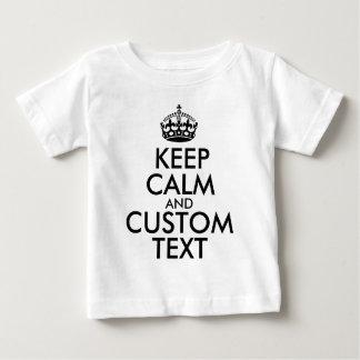 Camiseta Para Bebê Mantenha a calma e criar seus próprios fazem para